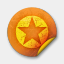 Icon: Orange Sticker Badges 036, grunge-stickers mysitemyway, Pixel: 64