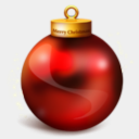 Icon: Ball, christmas-dock petercui, Pixel: 128 x 128 px
