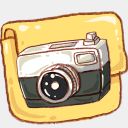Icon: hp-folder-camera-photo, harmonia-pastelis raindropmemory, Pixel: 128 x 128 px