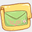 Icon: hp-folder-mail-green, harmonia-pastelis raindropmemory, Pixel: 64