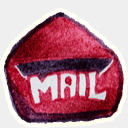 Icon: Mail-3, red-little-shoes raindropmemory, Pixel: 128 x 128 px