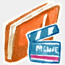 Icon: Red Movies, red-little-shoes raindropmemory, Pixel: 128 x 128 px