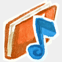 Icon: Red-music, red-little-shoes raindropmemory, Pixel: 128 x 128 px