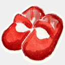 Icon: RedShoe, red-little-shoes raindropmemory, Pixel: 128 x 128 px