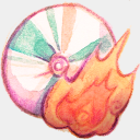 Icon: Burn, summer-love-cicadas raindropmemory, Pixel: 128 x 128 px