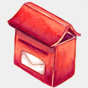Icon: Mail Box, summer-love-cicadas raindropmemory, Pixel: 128 x 128 px
