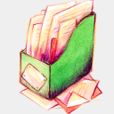 Icon: Recycle Bin Full 1, summer-love-cicadas raindropmemory, Pixel: 128 x 128 px