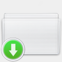 Icon: Folder Drop Box, milkanodised rimshotdesign, Pixel: 128 x 128 px