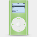 Icon: iPod Mini 2G Green, milkanodised rimshotdesign, Pixel: 128 x 128 px