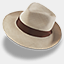 Icon: Hat Linen Trilby, hat rob-sanders, Pixel: 64