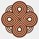 Icon: Brownknot 2, celtic-knot shiftercat, Pixel: 128 x 128 px
