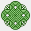 Icon: Greenknot 2, celtic-knot shiftercat, Pixel: 64