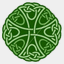 Icon: Greenknot 4, celtic-knot shiftercat, Pixel: 64
