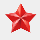 Icon: star, christmas sniffels, Pixel: 128 x 128 px