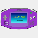 Icon: Gameboy Advance Purple, console sykonist, Pixel: 128 x 128 px