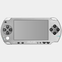 Icon: PS PSilver, console sykonist, Pixel: 128 x 128 px