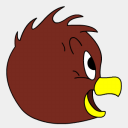 Icon: Henery-Hawk-side-view, looney-tunes sykonist, Pixel: 128 x 128 px