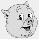 Icon: Old-Porky, looney-tunes sykonist, Pixel: 128 x 128 px