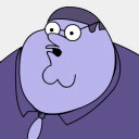 Icon: Peter-Griffin-Blueberry-zoomed-2, peter-griffin sykonist, Pixel: 128 x 128 px