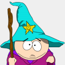 Icon: Cartman-Gandalf-zoomed, south-park sykonist, Pixel: 128 x 128 px