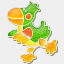 Icon: bird, animal-pins turbomilk, Pixel: 64