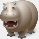 Icon: Hippopotamus, animals visualpharm, Pixel: 128 x 128 px